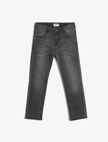 Narrow fit svarta jeans